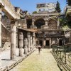 38450796 – view of the excavation herculaneum, naples, italy